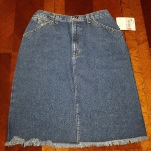Retro 90's Raw Edge Jean Skirt Size 8